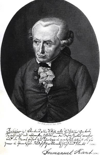 Emmanuel Wall Art - Drawing - Portrait Of Emmanuel Kant  by German School