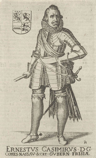 Wall Art - Drawing - Portrait Of Ernst Casimir, Count Of Nassau-dietz by Artokoloro