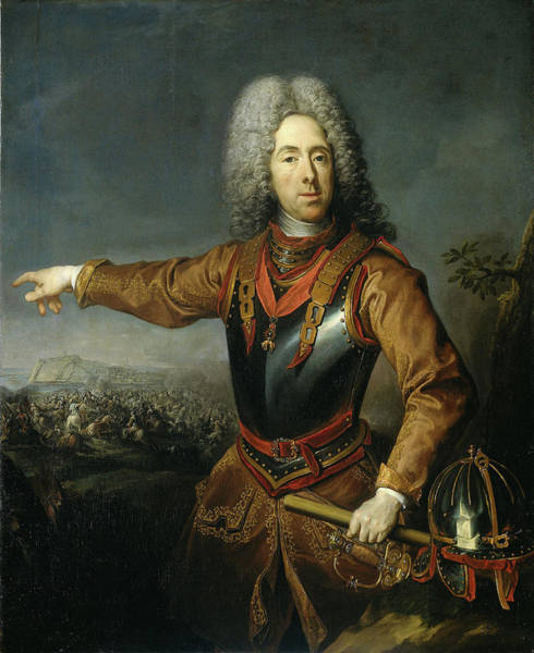 Wall Art - Drawing - Portrait Of Eugene, Prince Of Savoy, Jacob Van Schuppen by Litz Collection