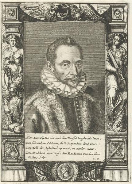 Allegorical Figure Drawing - Portrait Of Filips Van Marnix Heer Van St by Geeraert Brandt (i)
