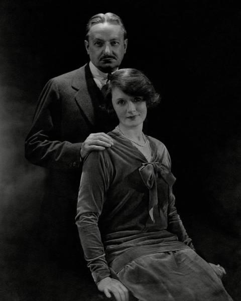 Husband Photograph - Portrait Of Florenz Ziegfeld And Wife Billie by Edward Steichen