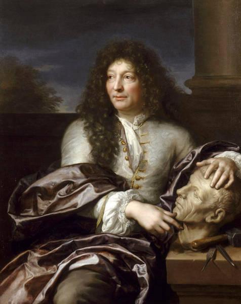 Gabriel Painting - Portrait Of Francois Girardon by Gabriel Revel