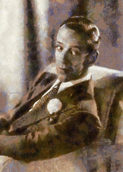 Digital Art - Portrait Of Fred Astaire by Charmaine Zoe