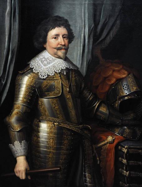 Goatee Photograph - Portrait Of Frederick Henry, Prince Of Orange 1584-1647, C.1632, By Michiel Jansz Van Mierevelt by Bridgeman Images