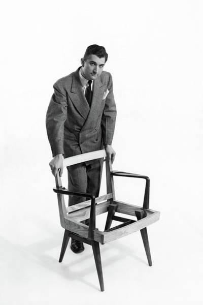Portrait Of Furniture Designer Jens Risom Art Print by Herbert Matter