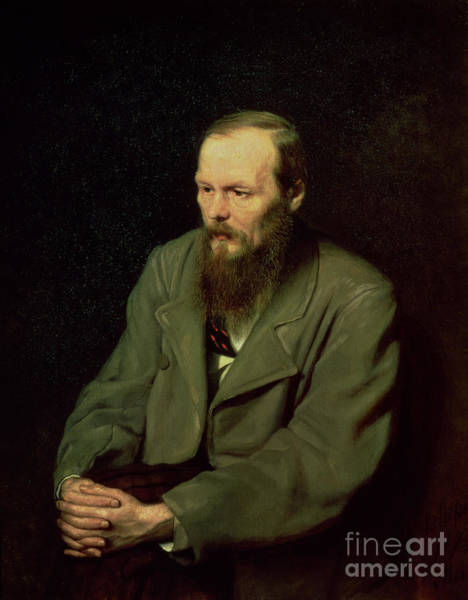 Thoughts Painting - Portrait Of Fyodor Dostoyevsky by Vasili Grigorevich Perov