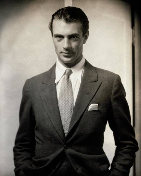 Glamour Photograph - Portrait Of Gary Cooper Wearing A Suit by Edward Steichen
