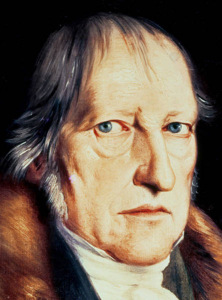 Fur Painting - Portrait Of Georg Wilhelm Friedrich Hegel by Jacob Schlesinger
