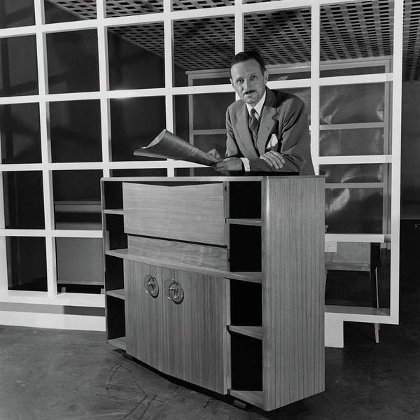 Desk Photograph - Portrait Of Gilbert Rohde by Luis Lemus