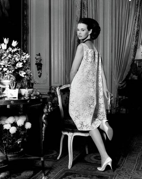 Furniture Photograph - Portrait Of Gloria Vanderbilt by Horst P. Horst