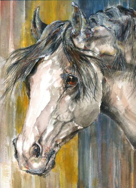 Portrait Of Gray Art Print by Mary Armstrong