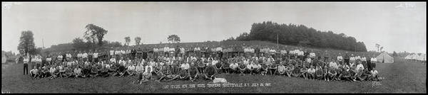 Fayetteville Photograph - Portrait Of Group Of People At Camp by Fred Schutz Collection