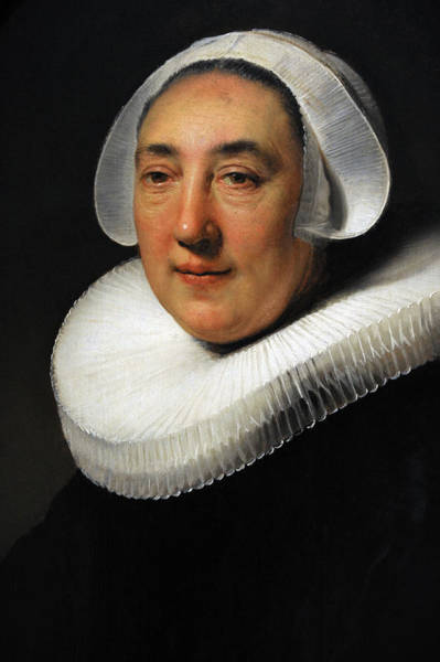 Amsterdam Photograph - Portrait Of Haesje Jacobsdr Van Cleyburg, 1634, By Rembrandt 1606-1669 by Bridgeman Images