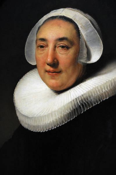 Wall Art - Photograph - Portrait Of Haesje Jacobsdr Van Cleyburg, 1634, By Rembrandt 1606-1669 by Bridgeman Images