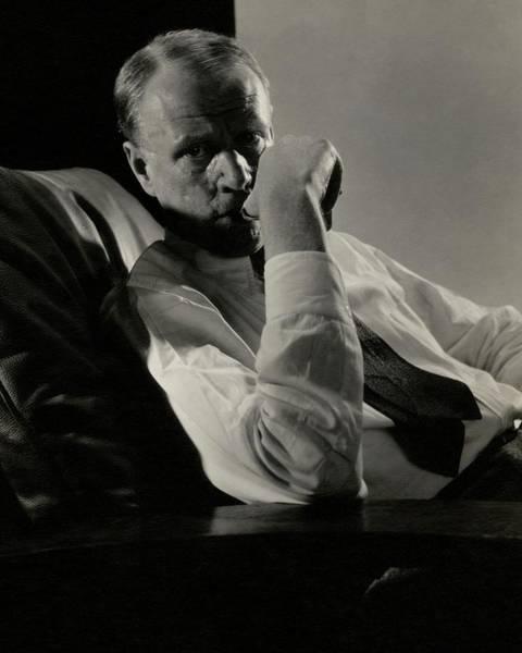 Photograph - Portrait Of Harry Sinclair Lewis by Edward Steichen