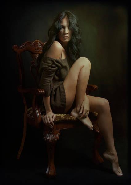 Chair Photograph - Portrait Of Helen by Zachar Rise