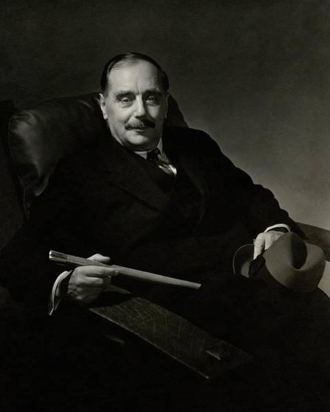 January 1st Photograph - Portrait Of Herbert George Wells by Edward Steichen