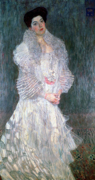 Gustav Klimt Painting - Portrait Of Hermine Gallia by Gustav Klimt