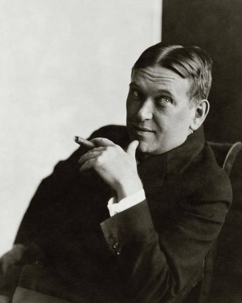 Cigar Photograph - Portrait Of H.l. Mencken by Edward Steichen