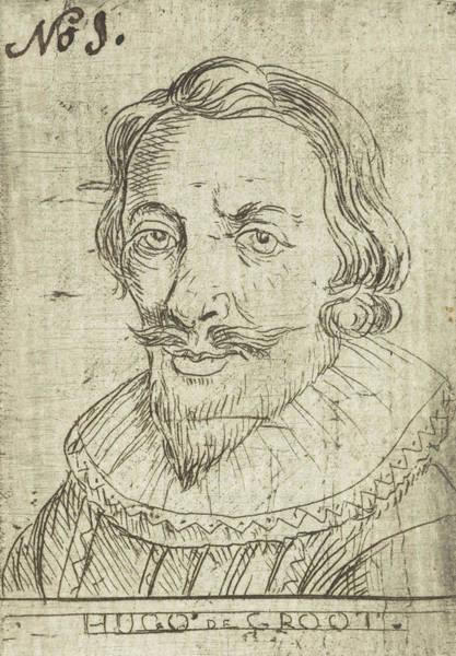 Wall Art - Drawing - Portrait Of Hugo Grotius Or Hugo De Groot by Rienk Jelgerhuis