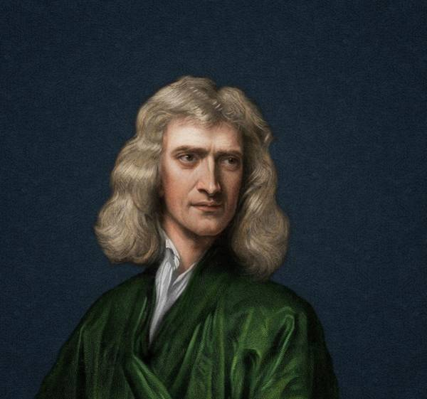 Optics Photograph - Portrait Of Isaac Newton by David Parker