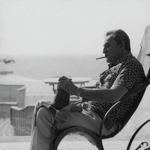 Relaxation Photograph - Portrait Of Italian Director Luchino Visconti by Karen Radkai