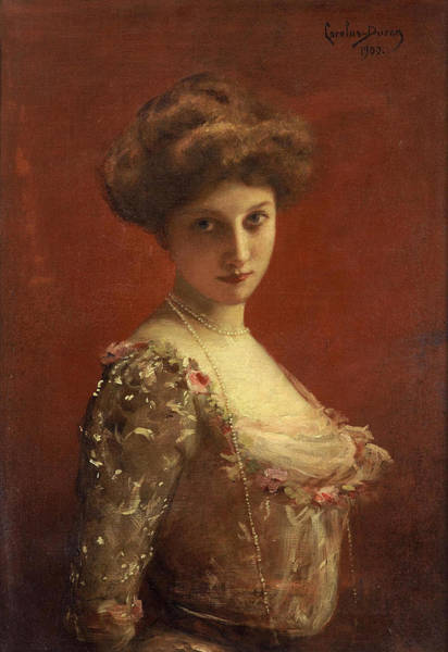 Francaise Painting - Portrait Of The Actress Jane Henriot by Carolus-Duran