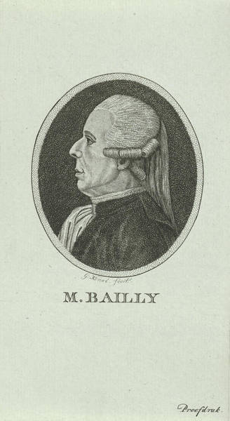 Wall Art - Drawing - Portrait Of Jean Sylvain Bailly, 1736 - 1793, A French by Quint Lox