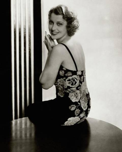 January 1st Photograph - Portrait Of Jeanette Macdonald by Edward Steichen