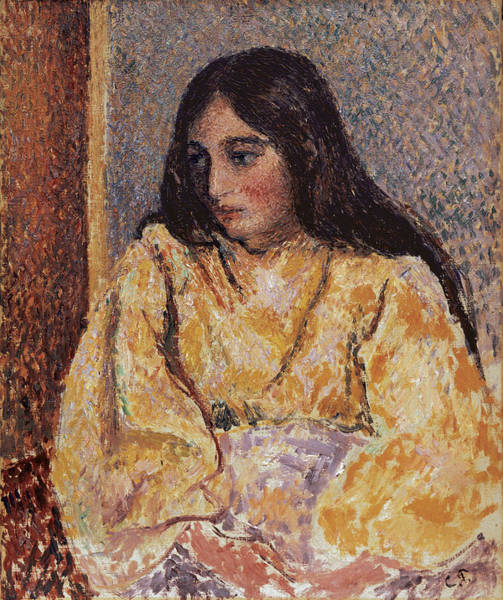 Wall Art - Painting - Portrait Of Jeanne, Circa 1893 by Camille Pissarro