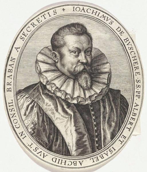Mens Clothing Wall Art - Drawing - Portrait Of Joachim De Buschere, Secretary In The Council by Johannes Wierix