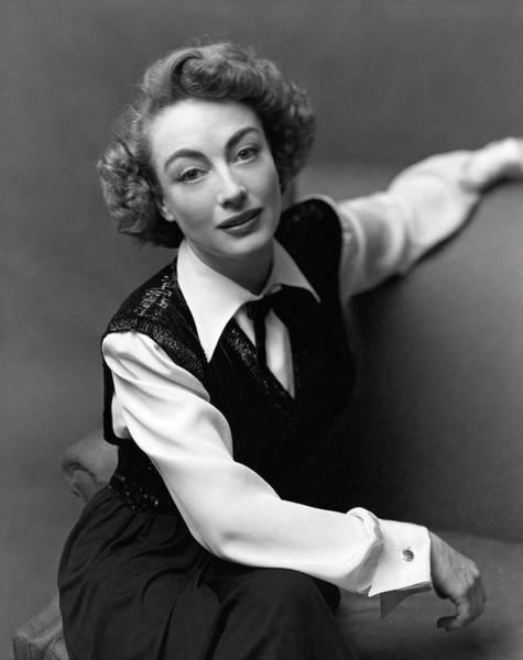 Photograph - Portrait Of Joan Crawford by Richard Rutledge