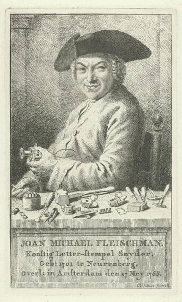 Wall Art - Drawing - Portrait Of Joan Michael Fleischman, Cornelis Van Noorde by Quint Lox