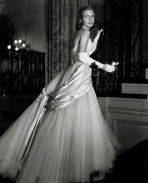 Formal Wear Photograph - Portrait Of Joan Peterkin by Horst P. Horst