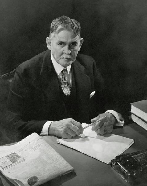 Desk Photograph - Portrait Of John F. Condon by Edward Steichen