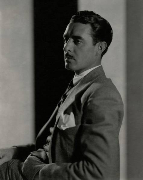 Male Portrait Photograph - Portrait Of John Gilbert by Edward Steichen