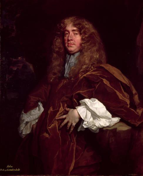 Sir Photograph - Portrait Of John Maitland, 1st Duke Of Lauderdale 1616-82 C.1665 by Sir Peter Lely