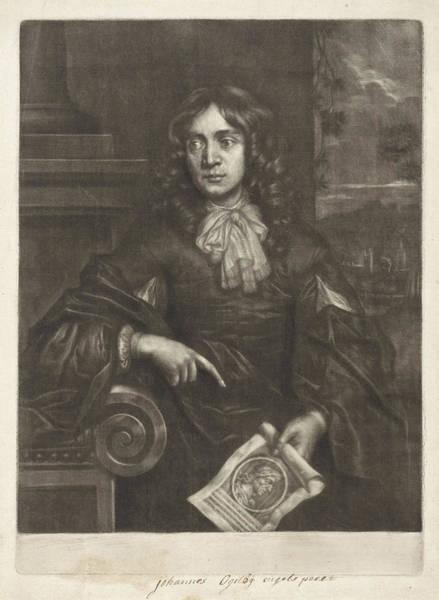 Wall Art - Drawing - Portrait Of John Ogilby, Paul Van Somer II by Paul Van Somer (ii)