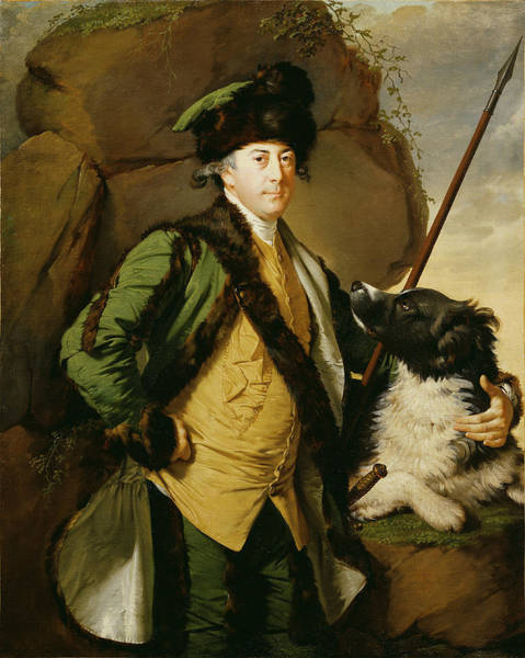 Collie Photograph - Portrait Of John Whetham Of Kirklington 1731-81, 1779-1780 Oil On Canvas by Joseph Wright of Derby