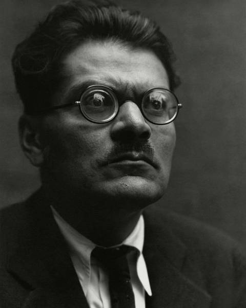 Middle Aged Photograph - Portrait Of Jose Clemente Orozco by Edward Weston