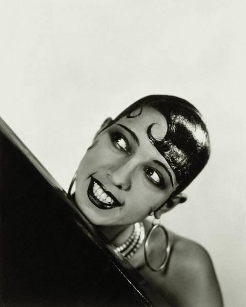 Headshot Photograph - Portrait Of Josephine Baker by George Hoyningen-Huene