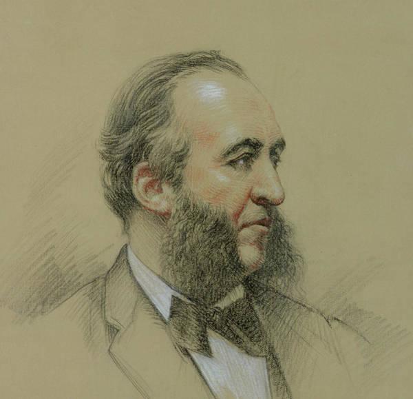 Tie Drawing - Portrait Of Jules Ferry by Paul Sarrut