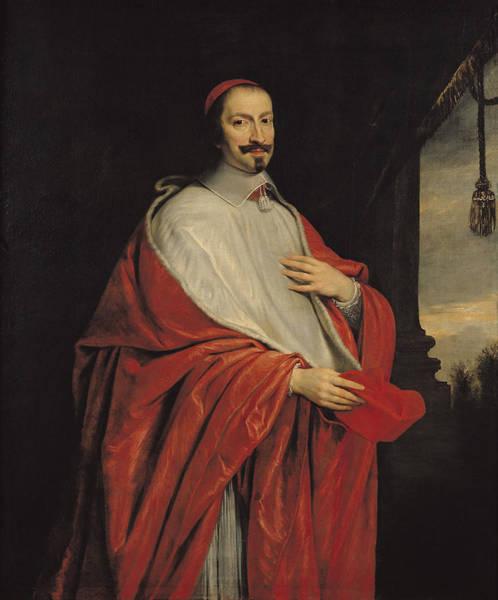 Giulio Painting - Portrait Of Jules Mazarin by Philippe de Champaigne