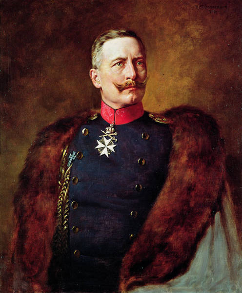 Moustaches Photograph - Portrait Of Kaiser Wilhelm II 1859-1941 by Bruno Heinrich Strassberger