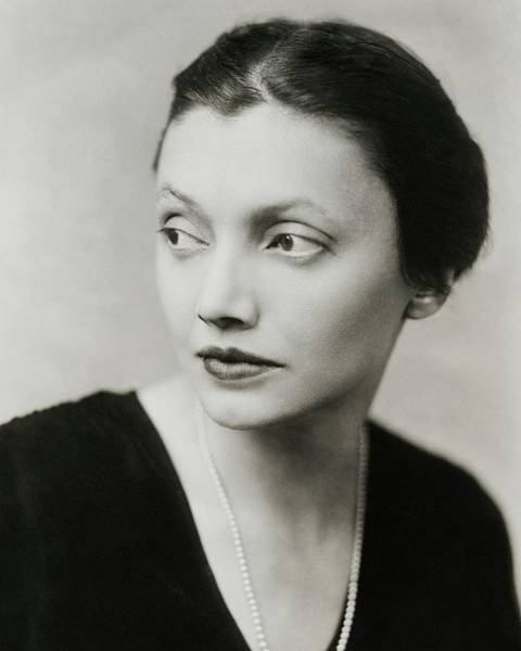 January 1st Photograph - Portrait Of Katharine Cornell by Florence Vandamm