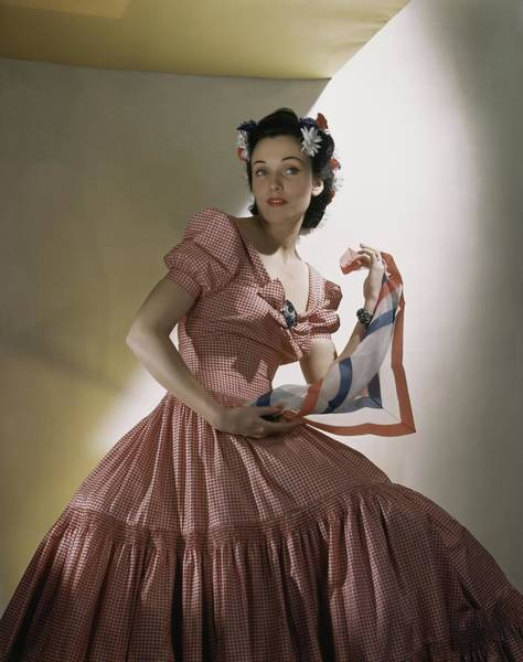 Red Flower Photograph - Portrait Of Kay Herman by Horst P. Horst