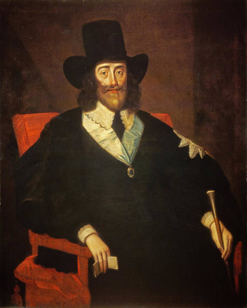 Weary Photograph - Portrait Of King Charles I 1625-49 At His Trial Oil On Canvas See Also 162534 & 245466 by Edward Bower