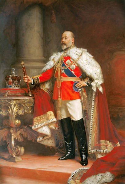 Artistry Painting - Portrait Of King Edward Vii by Mountain Dreams