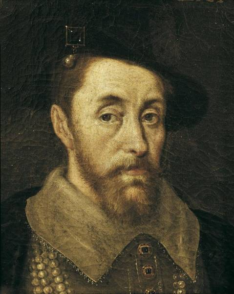 1566 Photograph - Portrait Of King James I. 17th C by Everett