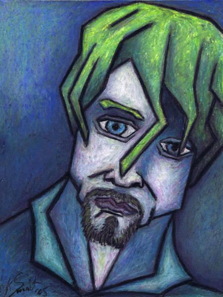 Wall Art - Painting - Portrait Of Kurt by Kamil Swiatek